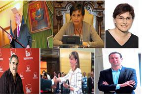 Gabino de Lorenzo, Oviedo.Carmen Moriyón, Gijón.Pilar Varela, Avilés.Aníbal Vázquez, Mieres.Esther Díaz, Langreo.Guillermo Martínez, Siero.