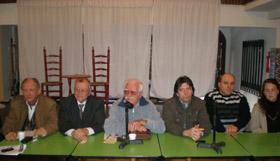 José López Gama, en el centro, y a su izquierda Guillermo García y Daniel Barreiro.