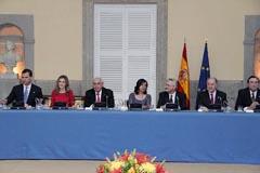 Un momento del encuentro con los Príncipes de Asturias.