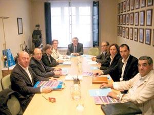 Un momento de la reunión de la Comisión Delegada.