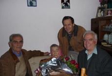 Adelaida Margarita Zuloaga con Juan Carlos Herner, Macario Lozano Prieto y Nemesio García Ruiz.