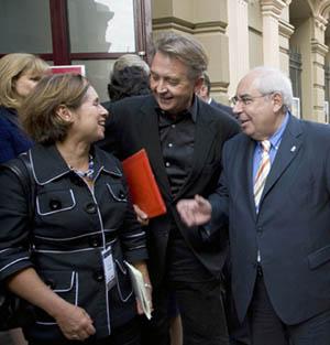 Manolo Díaz, en el centro.