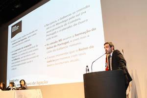 Ignacio Santos, en una de sus intervenciones en el Encuentro.