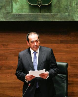 Fernando Goñi, presidente del Parlamento asturiano.