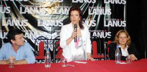 Pilar Pin en uno de los actos de su visita a Argentina el pasado mes de marzo.