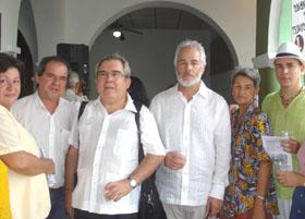 Carmen Diéguez, Alexis Triana, Martínez de Goicoechea,  Armas Pérez, Pérez Artigas y Gloria Ching.