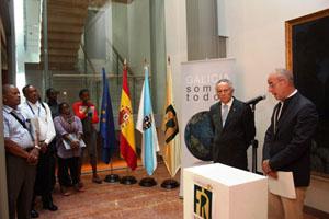 Santiago Camba, en la inaguración de la exposición 'Galicia somos todos'.