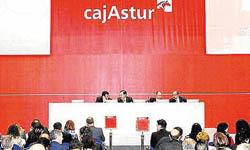 Asamblea general de Cajastur del pasado mes de  marzo.