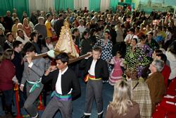 La celebración en Curitiba fue multitudinaria.