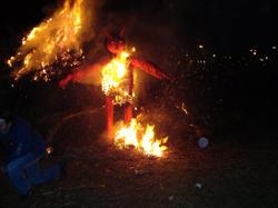 El 'dimoni' en combustión.