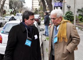 La Lista 25, encabezada por Rafael Gómez -izq.- fue la ganadora de las elecciones.