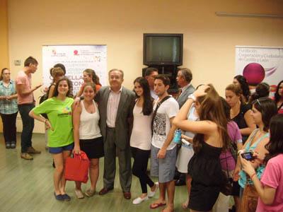 Félix Colsa recibió a los jóvenes participantes en la Escuela de Verano.