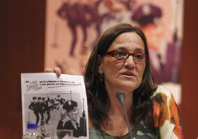 La delegada del Gobierno para el Plan Nacional sobre Drogas, Nuria Espí, durante la presentación.