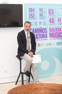 Roberto Varela en la presentación.