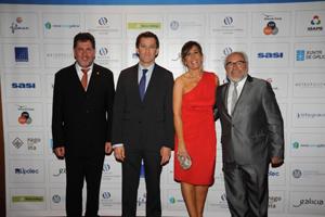 Amancio López Seijas, Alberto Núñez Feijóo, Alicia Sánchez Camacho y Julio Fernández.