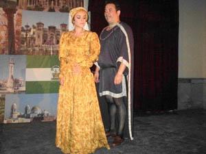 Los actores José Antonio Marín Pérez y  Nerea del Campo Rivas.