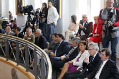 Varios representantes de la Xunta asistieron a las toma de posesión.