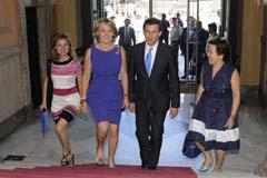 Marta Fernández Currás, Esperanza Aguirre, Alberto Núñez Feijóo y Pilar Farjas.