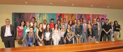 María de Diego Durántez compartió un agradable encuentro con los jóvenes en el primer acto como responsable de las políticas migratorias de la Junta.