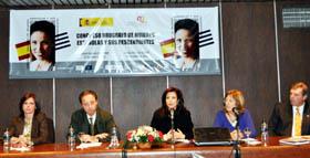 Pilar Pin fue la encargada de inaugurar el Congreso de Mujeres Españolas en Uruguay.