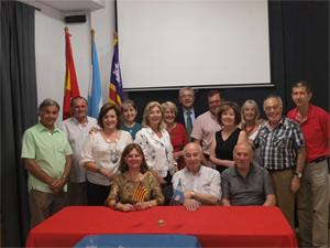 Samaniego con el colectivo argentino.