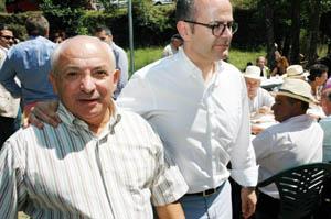 Ramiro Vieito y el conselleiro de Educación, Jesús Vázquez.