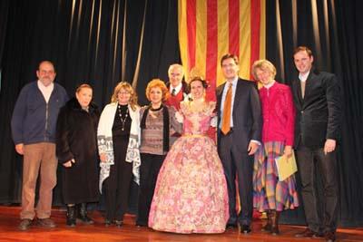 Directiva del Centro junto a responsables de la Facultad de Lenguas.