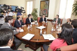 José Ramón Bauzá en la reunió con sus consellers.