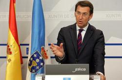 El presidente de la Xunta, Alberto Núñez Feijóo, explica las medidas de su Gobierno tras el Consello.