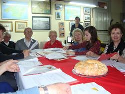 Los participantes en el Taller Literario.