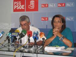 Raúl Fernández y María Quintas en la rueda de prensa.