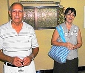 Sergio Rabanillo y Mª Aurora Pérez.