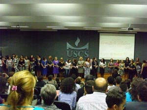 Un momento de la ceremonia de entrega de diplomas.