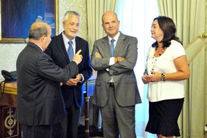 Griñán y Chaves, junto Mar Moreno y Gaspar Zarrías.