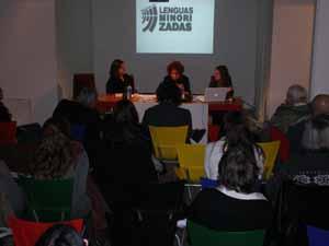 Patricia Bouzas, Susana Blanco y Graciana Vázquez Villanueva disertaron sobre la lengua gallega.