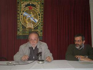 Francisco Lores y el historiador Hernán Díaz hicieron un repaso por el legado político y cultural de Cuadrado.