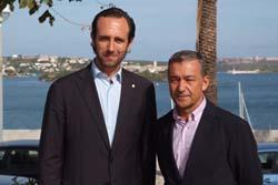 Los presidentes Bauzá y Rivero.