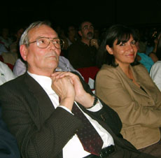 Gregorio Jiménez y Anne Hidalgo en uno de los festivales de la Faceef.