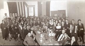 Cena en Casa de Galicia de Nueva York en 1940.