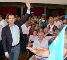 Imagen de una visita anterior de Alberto Núñez Feijóo a Montevideo.