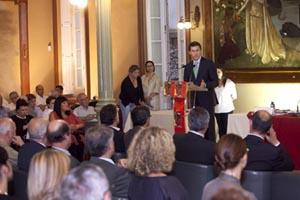 Alberto Núñez Feijóo en la entrega de los premios  'A Cor do Sentimento'.