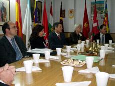 Reunión con las entidades españolas en Bahía Blanca.