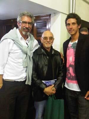 Jorge Sagrera, Vicente Battista y Nico Sagrera.