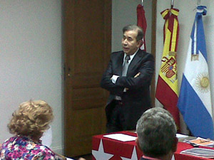 Francisco Puebla imparte la charla.