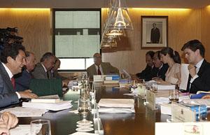Imagen de archivo de una reunión de la Junta Electoral Central.