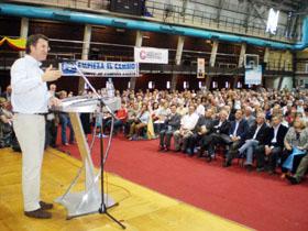 Intervención del presidente del PP de Galicia, Alberto Núñez Feijóo, en el Centro Galicia de Buenos Aires.