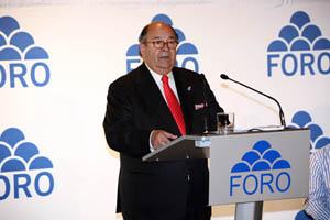 El portavoz parlamentario de Foro Asturias en la Junta General, Enrique Álvarez Sostres.