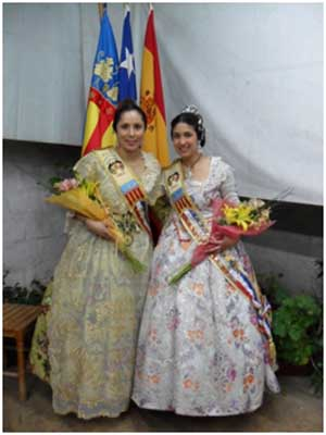 Las Falleras Mayores 2011 y 2012.