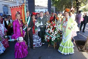 Los andaluces en las Fiestas del Pilar.