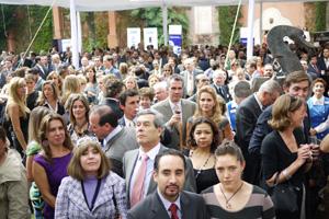 Vista de los asistentes a la recepción.